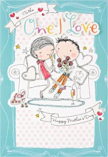 Hallmark Mother's Day Card 'One I Love Contemporary 3D Illustrated' - Medium