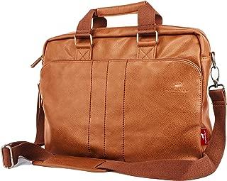Leather Briefcase for Men fit 15.6 inch Laptop Travel Shoulder Messenger Bag Handbag Artificial Leather