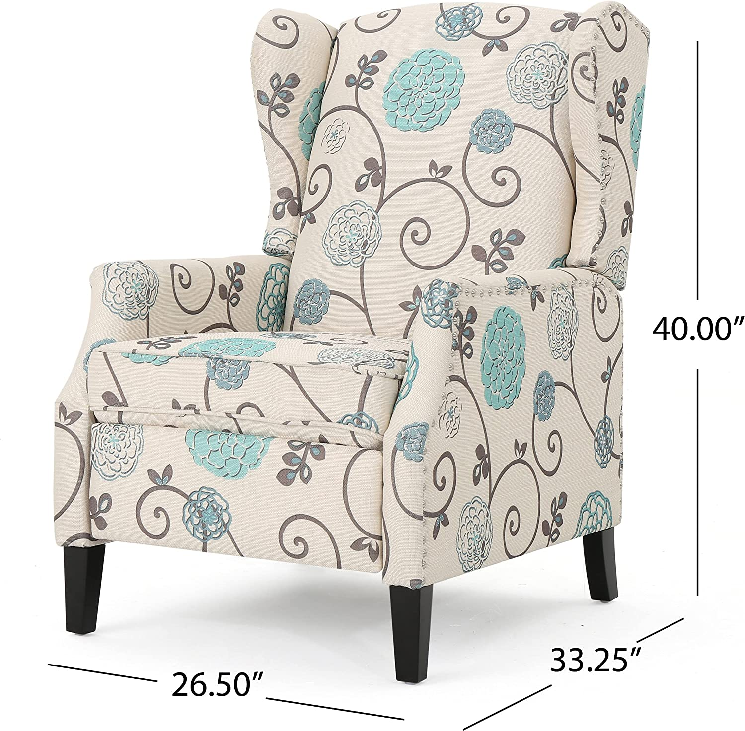 Best For Color: Christopher Knight Traditional Wingback Recliner.