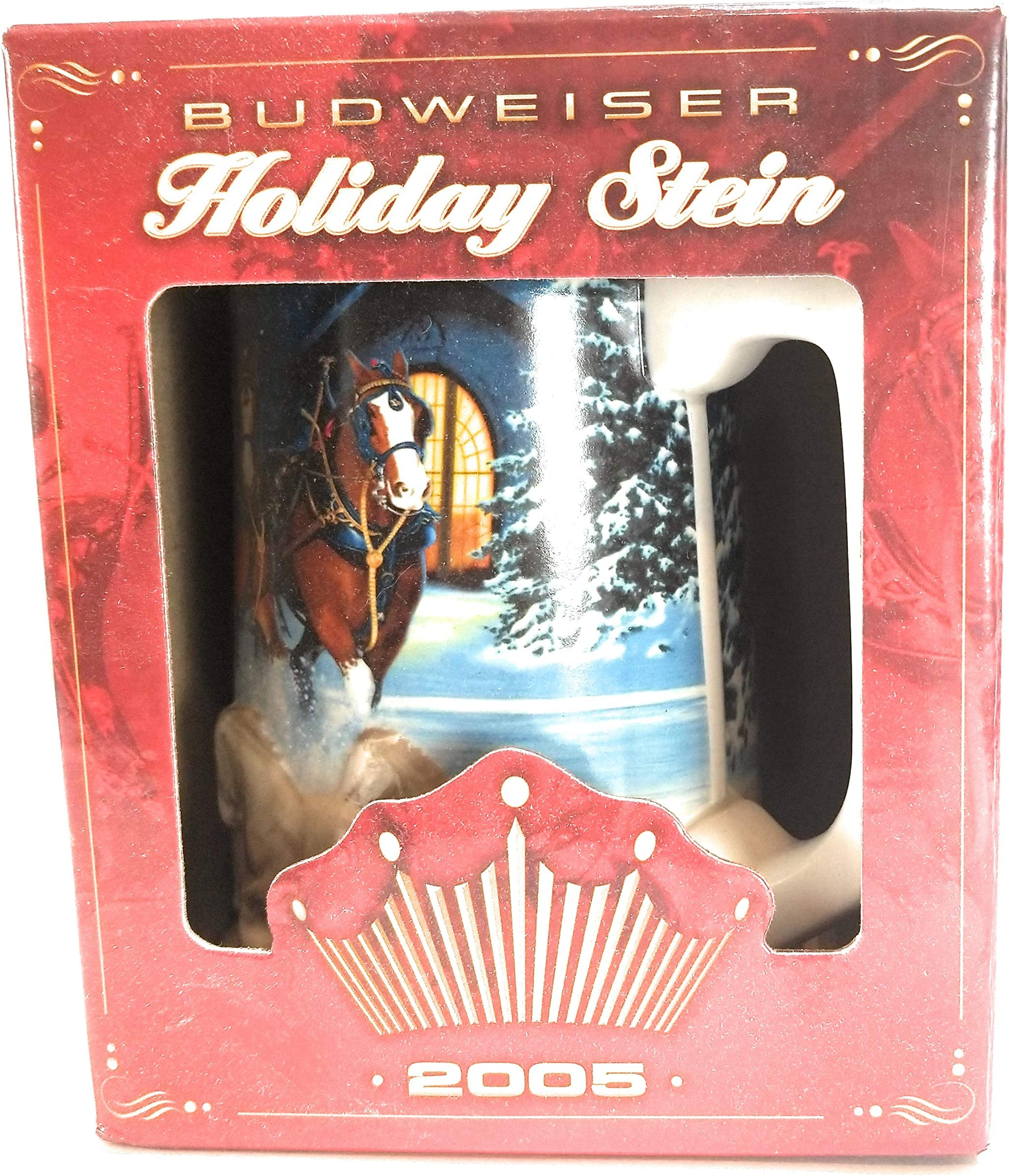 2005 Budweiser Clydesdale Collectible Holiday Beer Stein