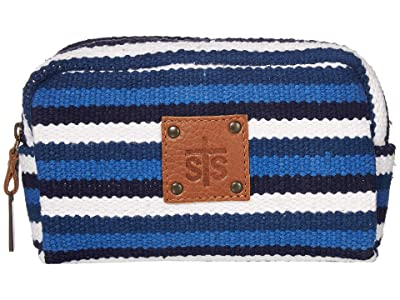 STS Ranchwear Durango Serape Cosmetic Bag (Navy Blue/White/Light Blue) Bags
