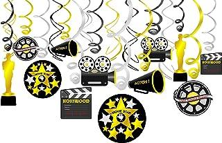 Konsait Colgante Decoraciones de Hollywood Fiesta película Remolino serpentinas Adornos de espirales decoración para Holly...
