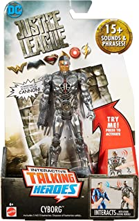 DC Justice League Talking Heroes Cyborg Figure, 6""