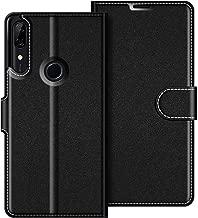 COODIO Custodia per Huawei P Smart Z, Custodia in Pelle Huawei P Smart Z, Cover a Libro Huawei P Smart Z Magnetica Portafoglio per Huawei P Smart Z Cover, Nero