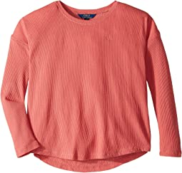 Drapey Waffle Top (Little Kids/Big Kids)