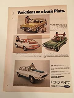 1972 Ford Pinto Variations Of Magazine Print Advertisement