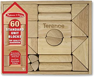 personalised wooden building blocks
