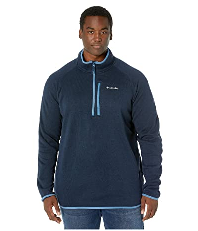Columbia Big Tall Canyon Pointtm Sweater Fleece 1/2 Zip (Collegiate Navy/Scout Blue) Men