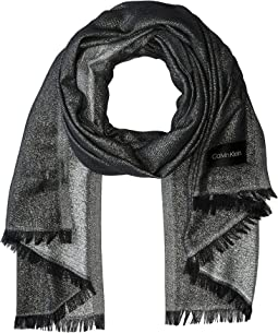 Lightweight Lurex Plaited Scarf