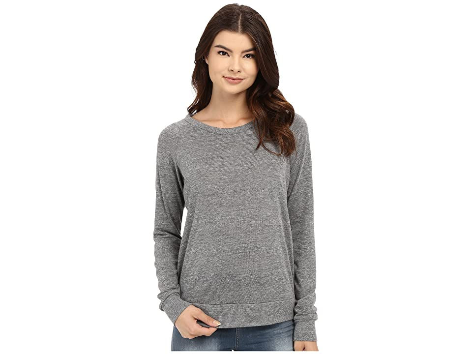 Alternative Eco-Heather Slouchy Pullover (Eco Grey) Women