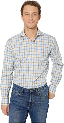 Plaid Long Sleeve Shaped Fit Button-Up Shirt