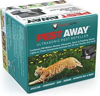PREDATORGUARD PestAway Ultrasonic Outdoor Animal & Cat Repeller with Motion Sensor..