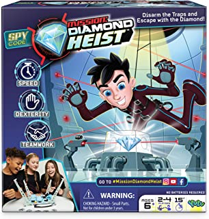 Mission: Diamond Heist - Disarm The Traps and Escape with The Diamond - Teamwork   for Ages 6+   2-4 Players