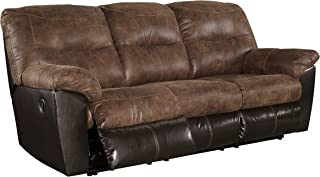 Ashley Furniture Signature Design - Follett Overstuffed Upholstered Reclining Sofa - Contemporary - Coffee