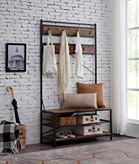 Best entry bench with coat rack Reviews