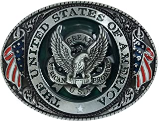 USA American Eagle Patriotic Belt Buckle