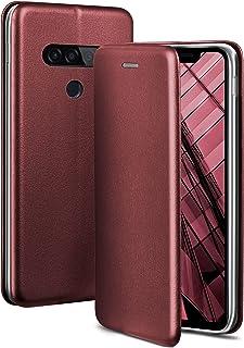 OneFlow Premium Boekje met onzichtbare magnetische sluiting + plaatsingsfunctie compatibel met LG G8s ThinQ   Exclusieve l...