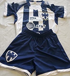New! Rayados de Monterrey Short and Jersey 2 Pc Kids L (6-7