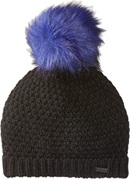SOREL - Cozy Knit Faux Fur Pom Beanie