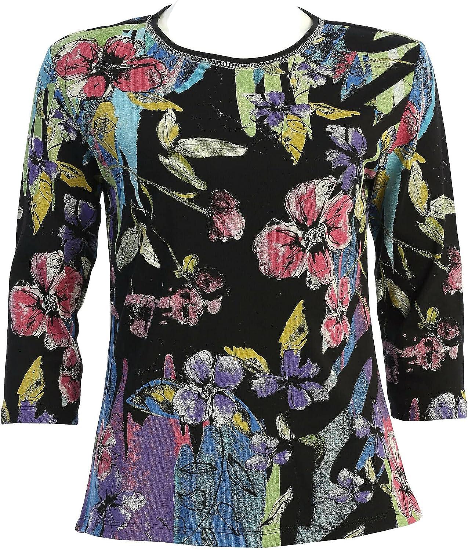Jess & Jane Women's Rebecca Cotton Tee Shirt Top