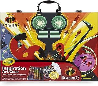 Crayola 516910 04-3315 Disney Pixar Incredible 2 Inspiration Art Case, 125 Pieces Art Gift for Kids 5 & Up