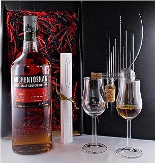 Geschenk Auchentoshan 12 Jahre Single Malt Whisky  Glaskugelportionierer  2 Bugatti Gläser