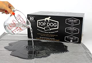 Top Dog Deluxe Puppy Pads and Dog Training Pad with Extra Quick-Dry Black Carbon Technology - Perfect for Puppy Housebreaking and for Your Mature Pet (40, 60, 80 Packs Available)