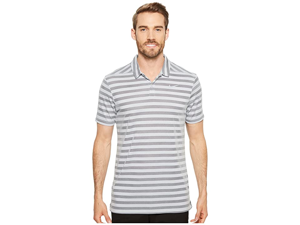 Nike Golf Breathe Stripe Polo OLC (Wolf Grey/Black) Men