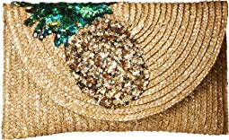 Betsey Johnson Straw Clutch