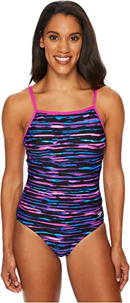 Speedo - Print Cross Power Swimsuit