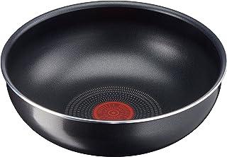 Lagostina Ingenio Essential Wok, ø 28cm, aluminium, noir - Compatible avec toutes les plaques sauf induction