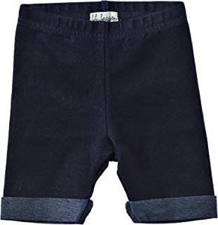 Lil Leggs Unisex Boys Girls Cotton Short Leggings 3T Dark Jean
