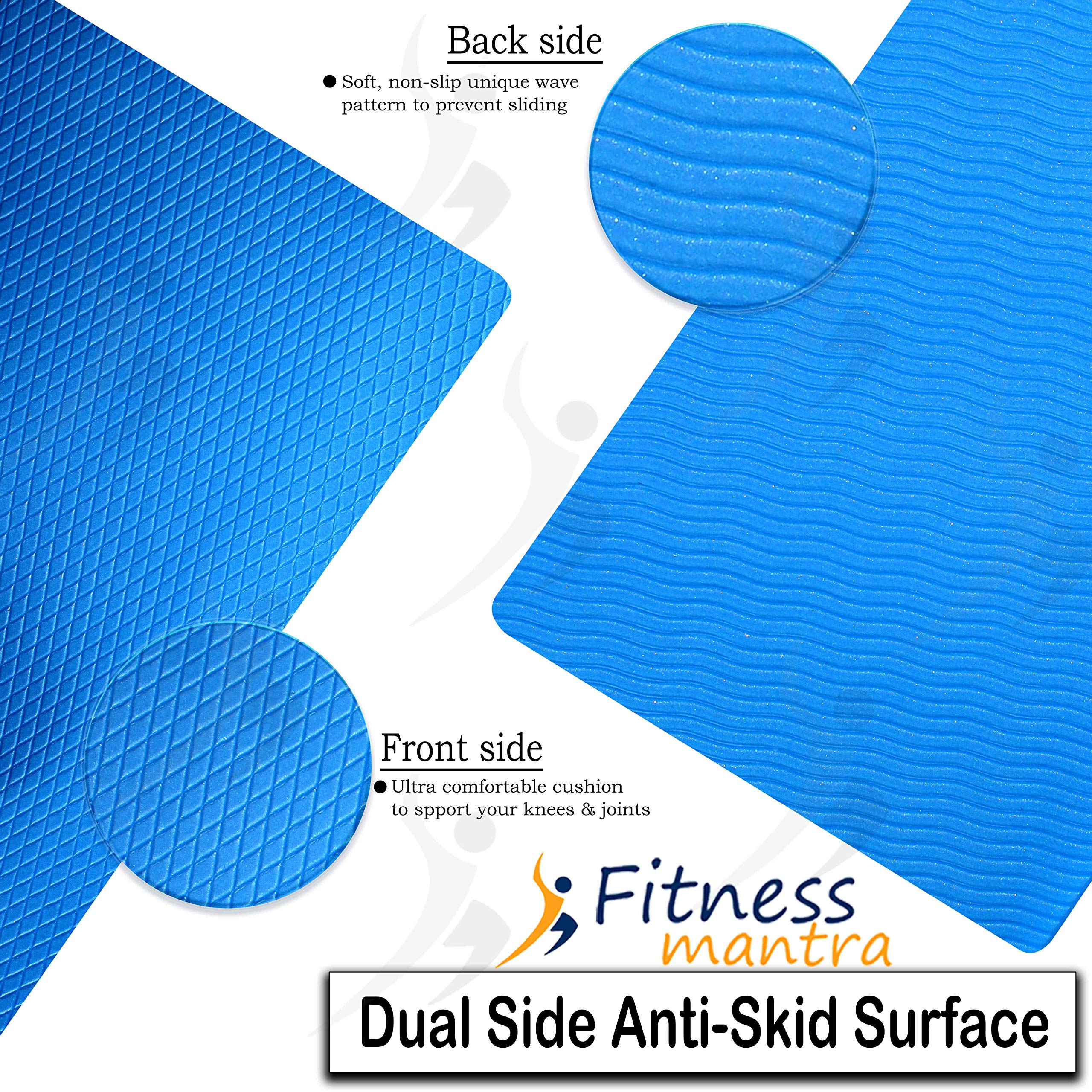 Fitness Mantra® Yoga Mat for Gym Workout and Yoga Exercise with 6mm Thickness, Anti-Slip Yoga Mat for Men & Women Fitness (Qnty.-1 Pcs.)
