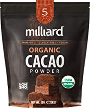 Milliard Organic Cacao Powder / Non-GMO and Gluten Free / 5 lbs.