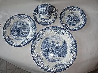 Johnson Bros. Blue Coaching Scenes Dinnerware -- 5 piece place setting [10