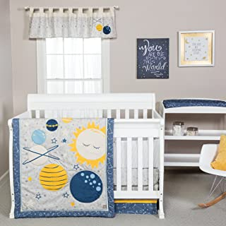 navy blue and yellow crib bedding