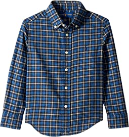 Plaid Cotton Twill Shirt (Little Kids/Big Kids)