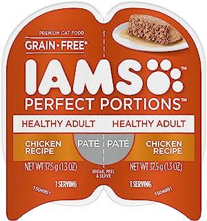 IAMS کامل PORTIONS Pate غذاهای گربه مرطوب و مرطوب (24 پاکت دوقلو)