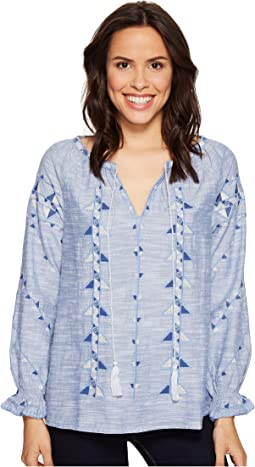 Rosemary Tribal Indigo Blouse