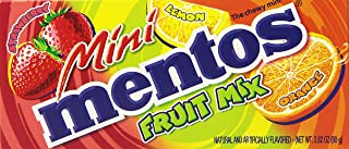 Mini Mentos Chewy Mint Candy Theater Box, Fruit, Stocking Stuffer, Gift, Holiday, Christmas, 2.82 ounces/40 pieces (Pack of 12)