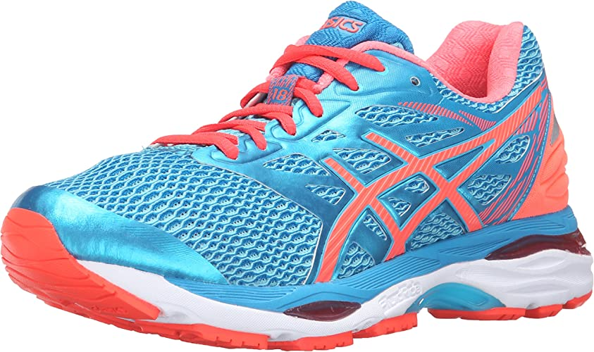 ASICS Wohommes Gel-Cumulus 18 Running chaussures, Aquarium Flash Coral bleu Jewel, 7.5 2A US