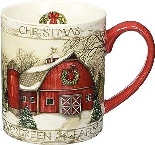 Lang Evergreen Farm Mug by Susan Winget, 14 oz., Multicolored