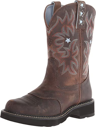 Ariat - Chaussures Western Probaby Fatbaby Femmes, 37.5 M EU, Driftwood marron Driftwood marron