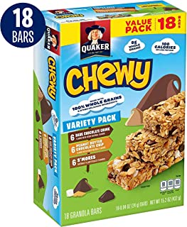 Quaker Chewy Granola Bars, Variety Pack, 18 Bars