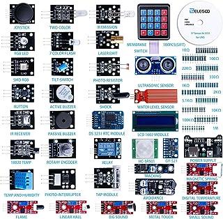 ELEGOO Upgraded 37 in 1 Sensor Modules Kit with Tutorial Compatible with Arduino IDE MEGA 2560 Nano