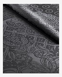 Christian Lacroix - Nappe - 100% Coton - Protection Anti-Tache (Gris foncé, 170 x 300 cm)