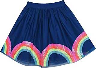 Girls Skirt Blue Heart Sequins Sparkling Tutu Dancing Size 2-12