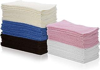 """Simpli-Magic 79264 Cotton Washcloths, Size: 12""""x12"""", Multi Color, 60 Pack"""