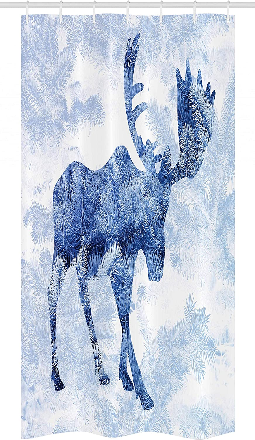 Ambesonne Moose Stall Shower Purchase Popular brand Curtain Pattern Pine Needles Spruc