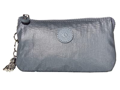 Kipling Creativity Large Pouch (Steel Grey Metallic 2) Clutch Handbags